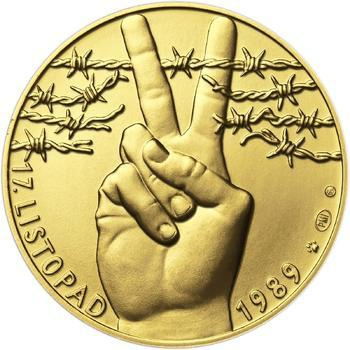 17. listopad 1989 - zlato 1/2 Oz b.k. - 1