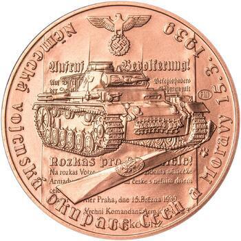 Vpád německých vojsk - 15. březen 1939 - 1 Oz Měď b.k. - 1