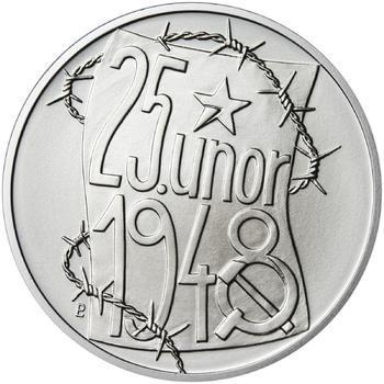25. únor 1948 - 66. výročí od komunistického puče  - 1 Oz stříbro b.k. - 1