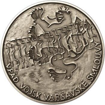 Vpád vojsk Varšavské smlouvy - 21. srpen 1968 -  1 Oz Ag patina - 1