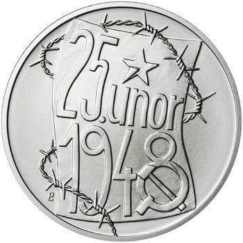 25. únor 1948 - 66. výročí od komunistického puče  - 28 mm stříbro b.k. - 1