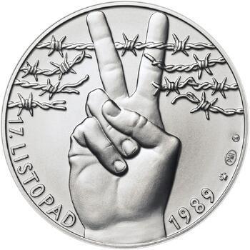 17. listopad 1989 - stříbro malá b.k. - 1