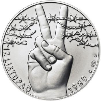 17. listopad 1989 - stříbro 1 Oz b.k. - 1