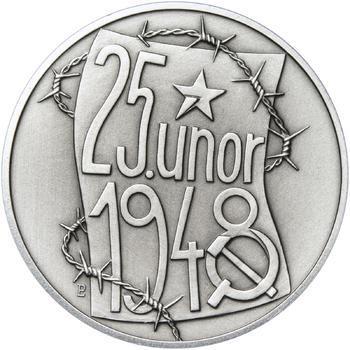 25. únor 1948 - 66. výročí od komunistického puče  - 28 mm stříbro patina - 1