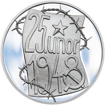 25. únor 1948 - 66. výročí od komunistického puče  - 28 mm stříbro Proof - 1