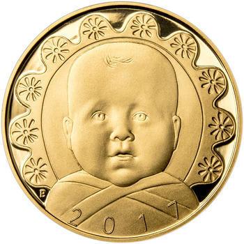 2017 - Dukát k narození dítěte - Miminko v peřince, 2017 - Dukát k narození dítěte - Miminko v peřince - 1