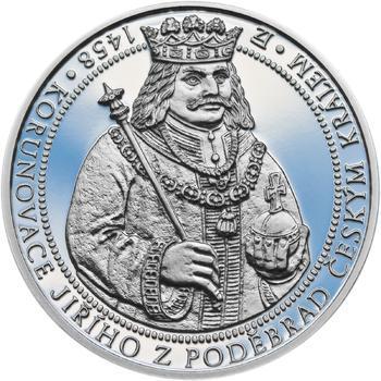 550 let od korunovace Jiřího z Poděbrad českým králem - stříbro Proof - 1