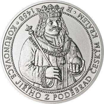 550 let od korunovace Jiřího z Poděbrad českým králem - stříbro b.k. - 1