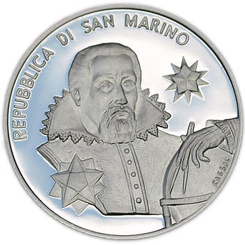 San Marino 400th Ann.of J Kepler's Astr. Nova Treaty Ag Proof - 1