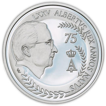 2009 75th Anniversary of King Albert II Ag Proof - 1