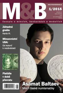 časopis Mince a bankovky č.1 rok 2015
