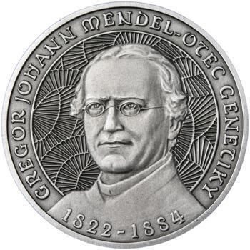 Johan Gregor Mendel - stříbro patina - 1