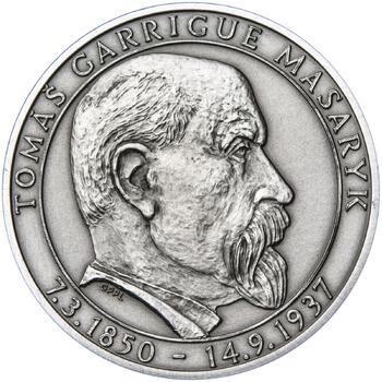 70 let od úmrtí Tomáše Garrigue Masaryka - stříbro patina - 1