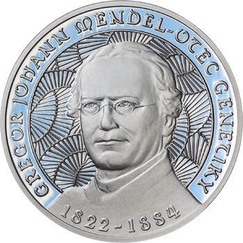 Johan Gregor Mendel - stříbro Proof - 1