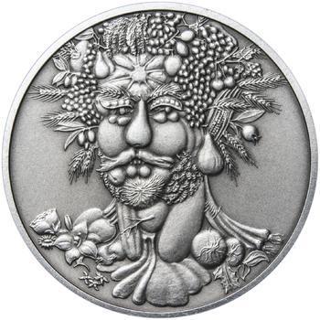 Giuseppe Arcimboldo - stříbro patina - 1