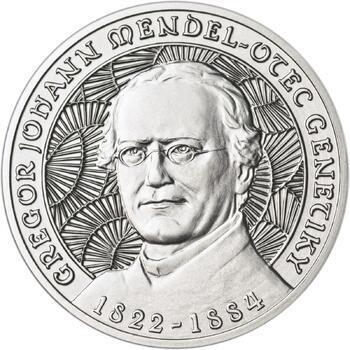 Johan Gregor Mendel - stříbro b.k. - 1