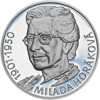Milada Horáková - stříbro malá Proof - 1