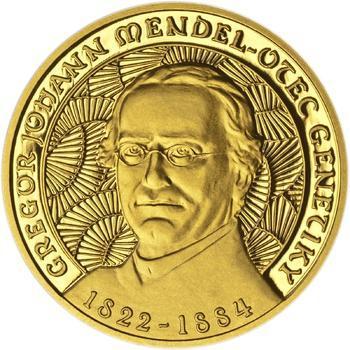Johan Gregor Mendel - zlato Proof - 1