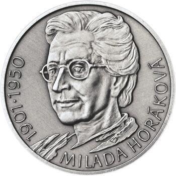 Milada Horáková - stříbro malá patina - 1