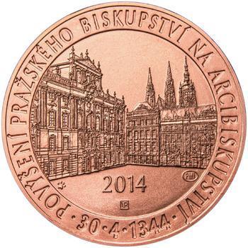 Povýšení pražského biskupství na arcibiskupství - 670 let - 1 Oz Měď b.k. - 1