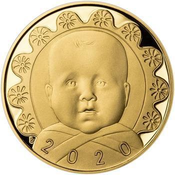 2020 - Dukát k narození dítěte - Miminko v peřince, 2020 - Dukát k narození dítěte - Miminko v peřince - 1