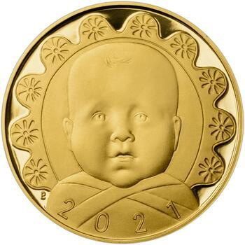 2021 - Dukát k narození dítěte - Miminko v peřince, 2021 - Dukát k narození dítěte - Miminko v peřince - 1