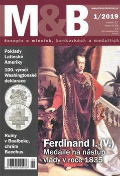 časopis Mince a bankovky č.1 rok 2019