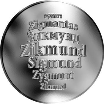 Česká jména - Zikmund - stříbrná medaile - 1