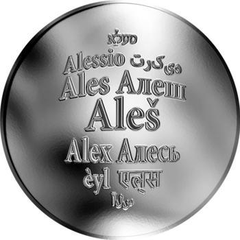 Česká jména - Aleš - stříbrná medaile - 1