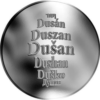 Česká jména - Dušan - stříbrná medaile - 1