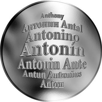 Česká jména - Antonín - stříbrná medaile - 1
