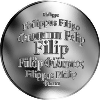 Česká jména - Filip - stříbrná medaile - 1