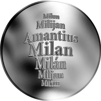 Česká jména - Milan - stříbrná medaile - 1