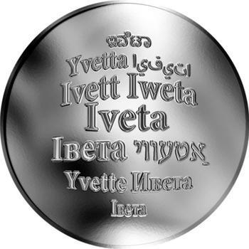 Česká jména - Iveta - stříbrná medaile - 1