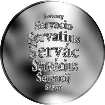 Česká jména - Servác - stříbrná medaile - 1