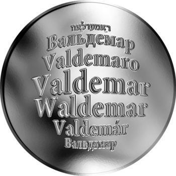 Česká jména - Valdemar - stříbrná medaile - 1