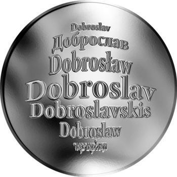 Česká jména - Dobroslav - stříbrná medaile - 1
