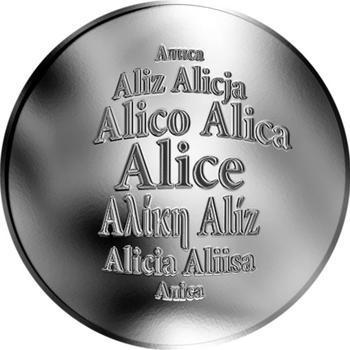 Česká jména - Alice - stříbrná medaile - 1