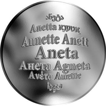 Česká jména - Aneta - stříbrná medaile - 1