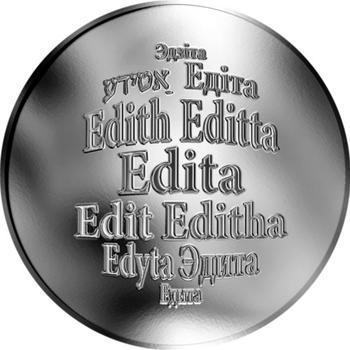 Česká jména - Edita - stříbrná medaile - 1