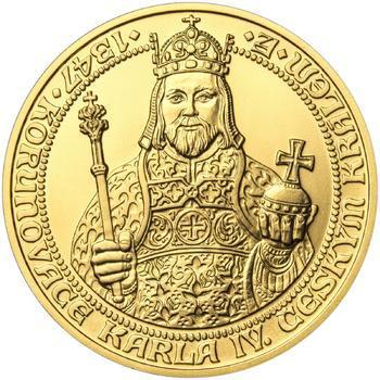 660 let od Korunovace Karla IV. českým králem - zlato b.k. - 1