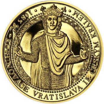 Korunovace Vratislava II. českým králem - zlatá Oz - PROOF - 1
