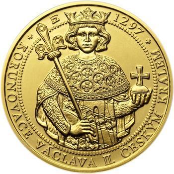Korunovace Václava II. českým králem - zlatá Oz - b.k. - 1