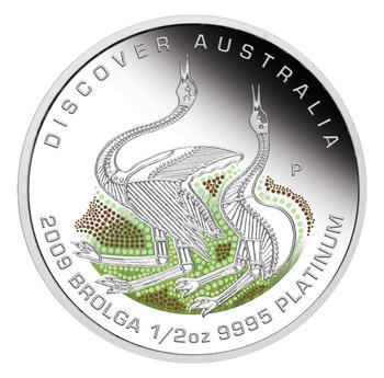 Australia Dreaming - Brolga Pt 1/2 Oz Proof - Platina - 1