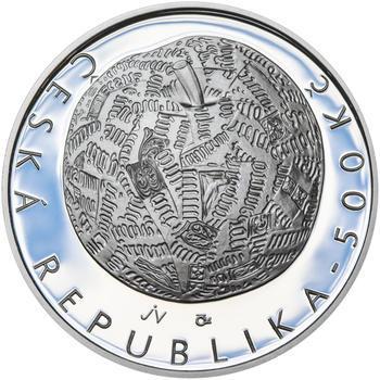 Mince ČNB - 2014 Proof - 500 Kč Jiří Kolář - 1
