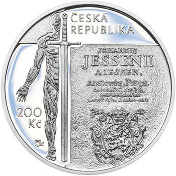 Mince ČNB - 2016 Proof - 200 Kč Jan Jessenius - 1