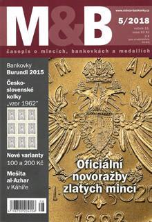 časopis Mince a bankovky č.5 rok 2018