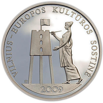 2009 Vilnius - European Capital of Culturre Silver Proof - 1
