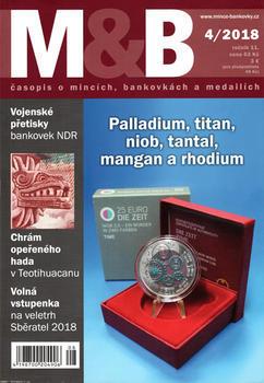 časopis Mince a bankovky č.4 rok 2018