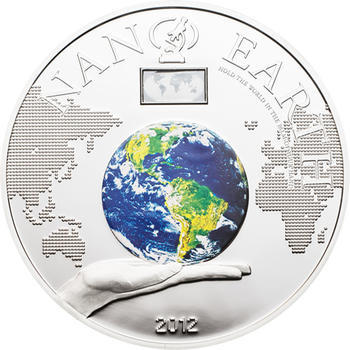 2012 Cook Island -Nano Earth - The World in Your Hand Proof - 1
